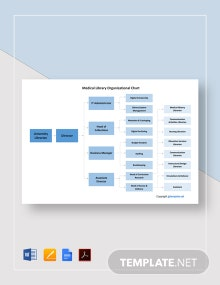 Free Medical Library Organizational Chart Template