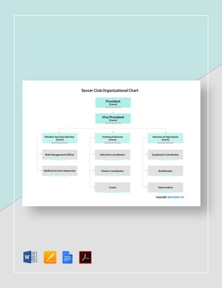 Soccer Club Organizational Chart