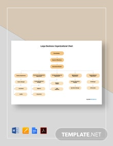 Free Large Business Organizational Chart Template
