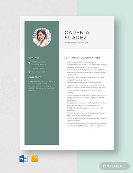 In-House Lawyer Resume Template