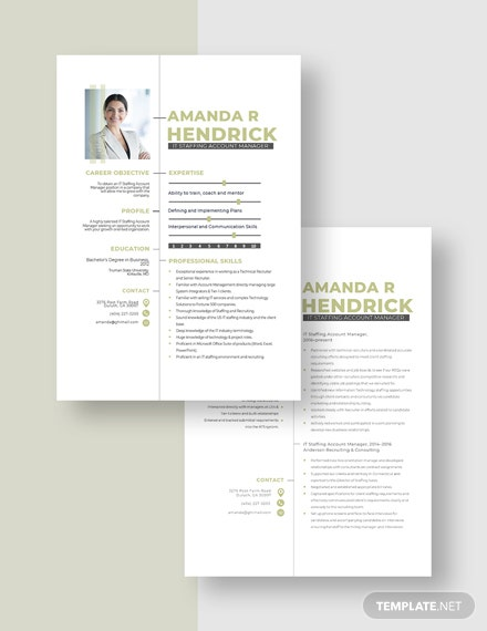 IT Staffing Account Manager Resume Download