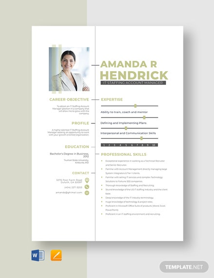 IT Staffing Account Manager Resume