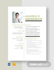 IT Staffing Account Manager Resume Template