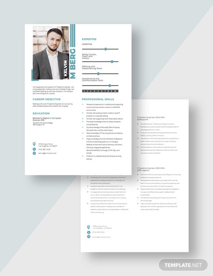 IT Systems Engineer Resume Download