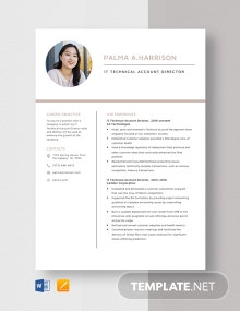 IT Technical Account Director Resume Template