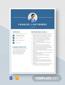 IV Nurse Resume Template