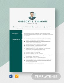 Publicity Officer Resume Template