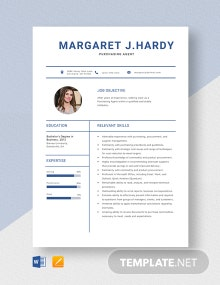 Purchasing Agent Resume Template