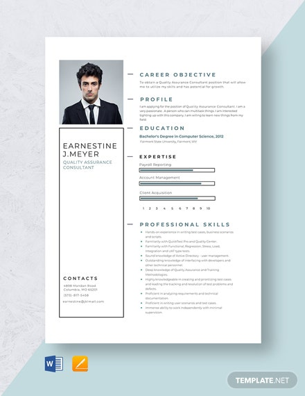 information assurance manager resume template