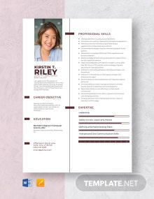 Quality Assurance Specialist Resume Template