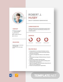 Quality Assurance Administrator Resume Template