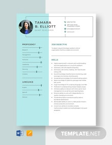 Quant Developer Resume Template