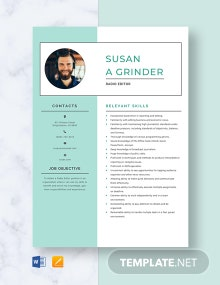 Radio Editor Resume Template