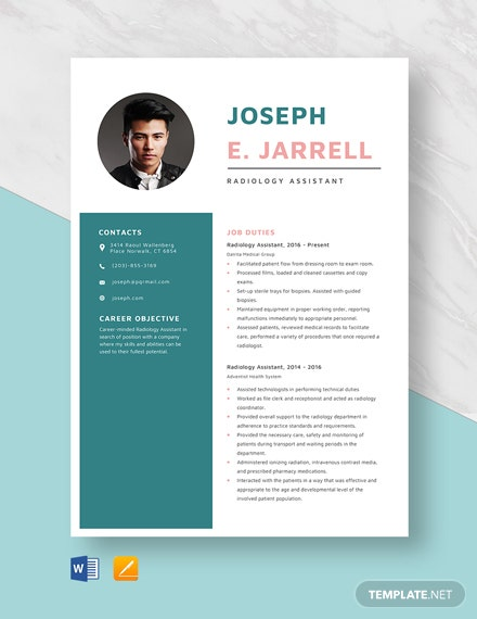 Radiology Assistant Resume Template
