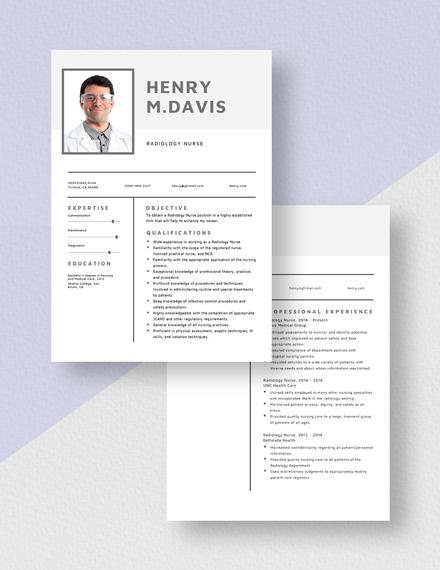 Radiology Nurse Resume Download