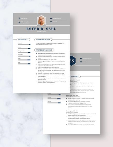 Ramp Agent Resume Download