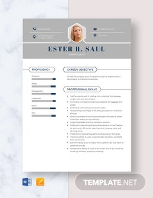 Ramp Agent Resume Template
