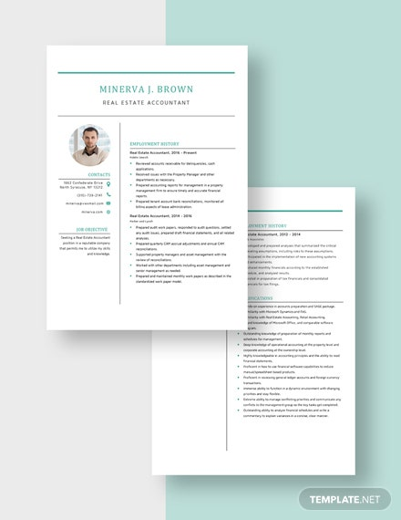 Real Estate Accountant Resume Download