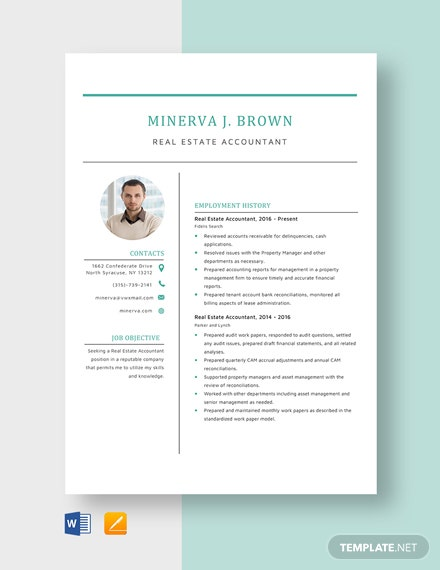 real estate specialist resume template