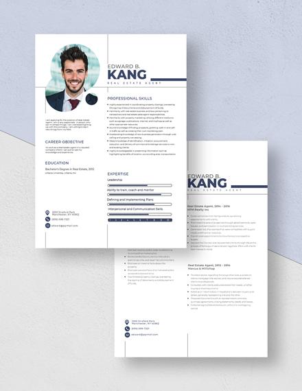 Real Estate Agent Resume Download