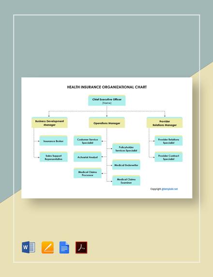 Health Insurance Organizational Chart