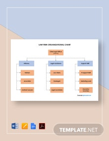 Free Sample Law Firm Organizational Chart Template