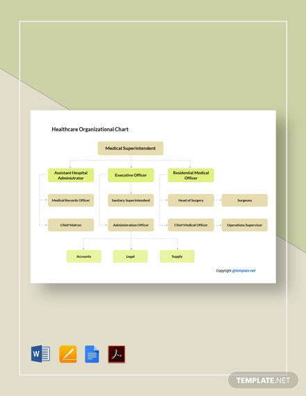 Free Healthcare Organizational Chart Template