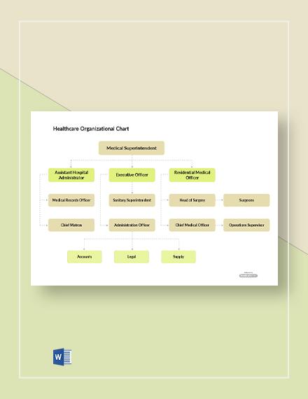 Free Healthcare Organizational Chart Template