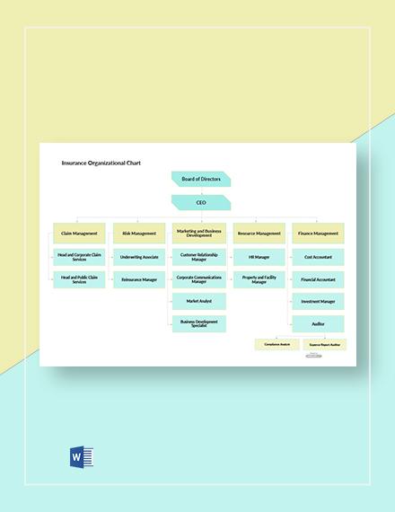 Free Insurance Organizational Chart Template