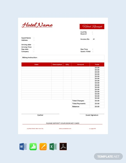 Free Hotel Receipt Template