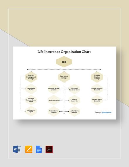 Free Life Insurance Organizational Chart Template