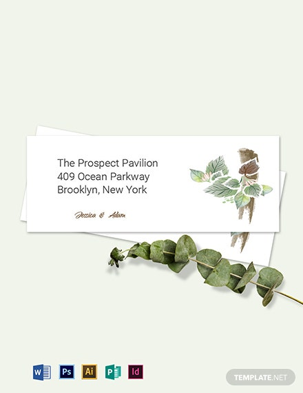 Fall Wedding Address Labels Card Template