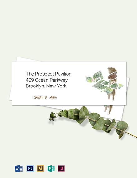 Fall Wedding Address Labels Card Template
