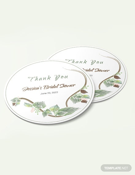 Sample Fall Wedding Label