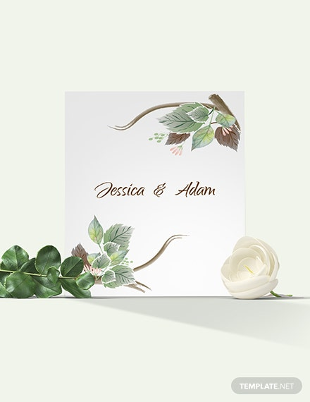 Fall Wedding Place Card Download