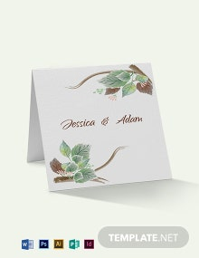 Fall Wedding Place Card Template