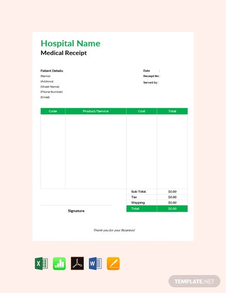 23  free cash receipt templates  download ready