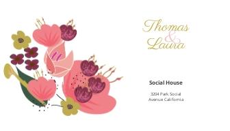 Pink Floral Wedding address Labels Card Template.jpe