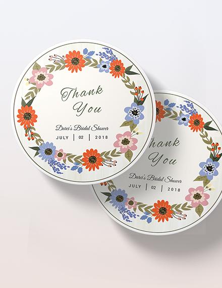 Sample Small Flower Wedding label