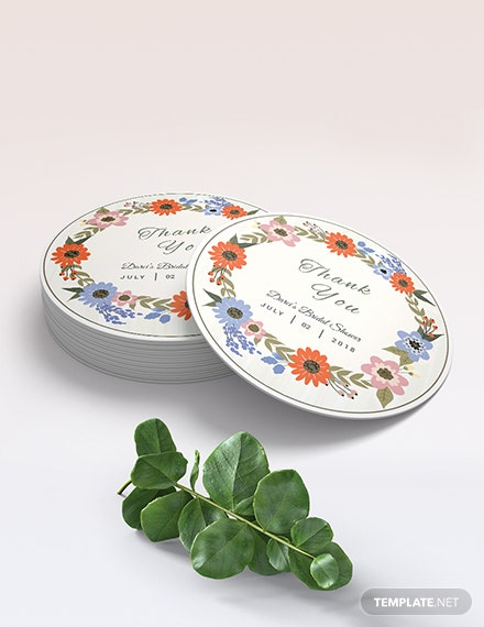 Small Flower Wedding label Download