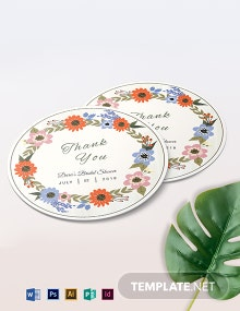 Small Flower Wedding Label Template
