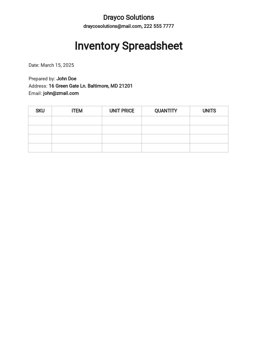 Free Blank Inventory Spreadsheet Template.jpe