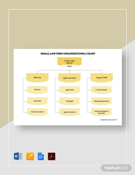 Free Small Law Firm Organizational Chart Template