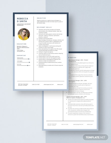 Logistics Account Manager Resume Download