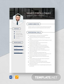 Marriage & Family Therapist Resume Template