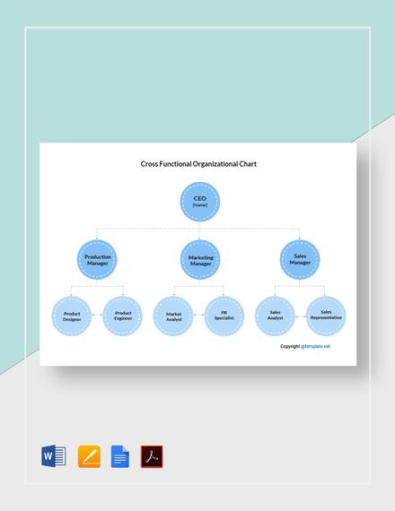 Free Cross-Functional Organizational Chart Template