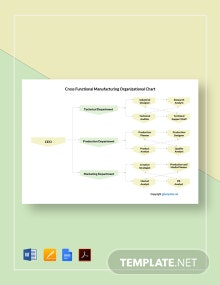 Cross-Functional Manufacturing Organizational Chart Template