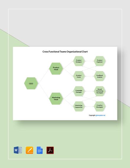 Free Cross-Functional Teams Organizational Chart Template