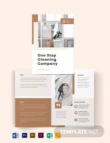 Commercial Cleaning Company Bi-Fold Brochure Template
