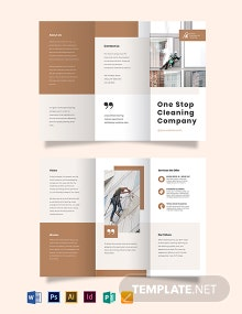 Commercial Cleaning Company Tri-Fold Brochure Template